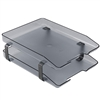 Acrimet Traditional Letter Tray 2 Tiers Front Load Design (Smoke)