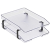 Acrimet Traditional Letter Tray 2 Tiers Front Load Design (Crystal)