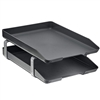 Acrimet Traditional Letter Tray 2 Tiers Front Load Design (Black)