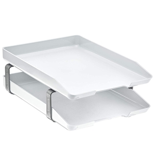 Acrimet Traditional Letter Tray 2 Tiers Front Load Design (White) v