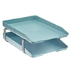 Acrimet Traditional Letter Tray 2 Tiers Front Load Design (Solid Green)