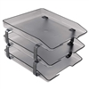 Acrimet Traditional Letter Tray 3 Tiers Front Load Design (Smoke)