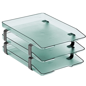 Acrimet Traditional Letter Tray 3 Tiers Front Load Design (Clear Green)