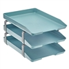Acrimet Traditional Letter Tray 3 Tiers Front Load Design (Solid Green)