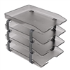 Acrimet Traditional Letter Tray 4 Tiers Front Load Design (Smoke)