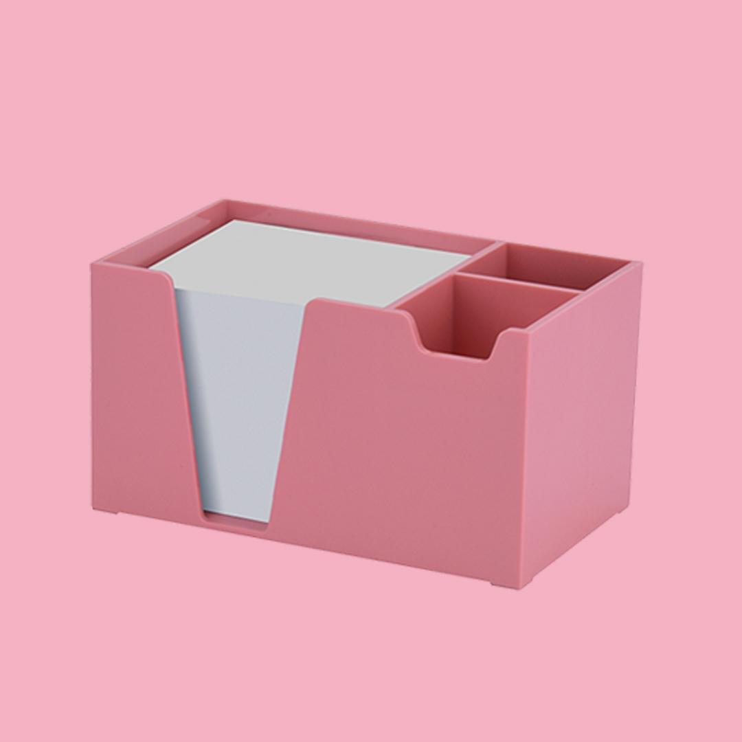 Acrimet Desk Organizer Pencil Paper Clip Holder (Solid Pink Color ...