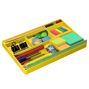 Acrimet Drawer Organizer (Solid Yellow Color)