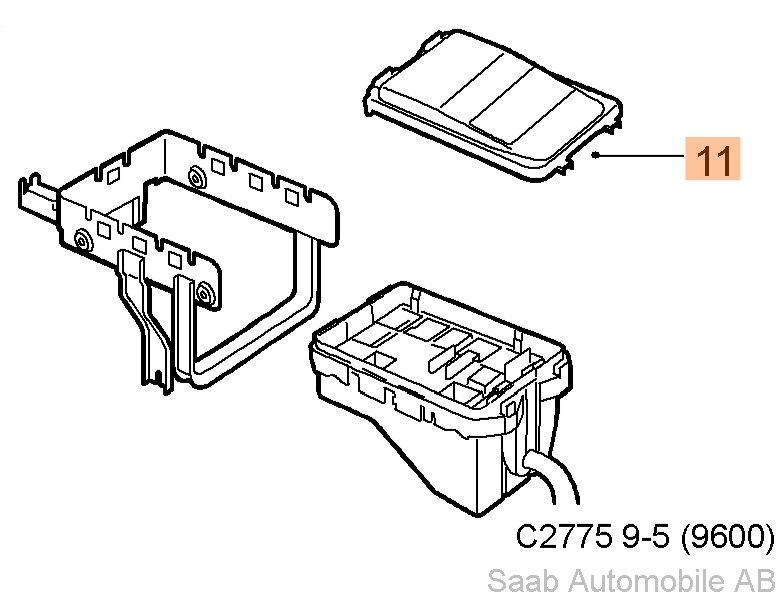 saab 9 5 fuse box wiring diagram  saab 9 5 fuse box cover 1998 2009 saab 9 5 fuse box