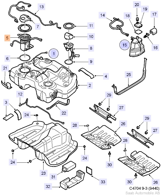 limited stock saab oem 9 3 fuel pump 2008 b284 v6 xwd rh saabusaparts com saab fuel pump parts saab 900 fuel pump wiring diagram