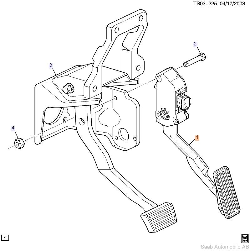 Saab 9 7x Accel Pedal With Sensor