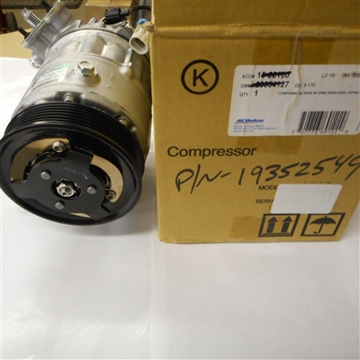 ** CLEARANCE ITEM** New Saab OE AC Compressor. 2011 Saab 94X. P/N 19352549