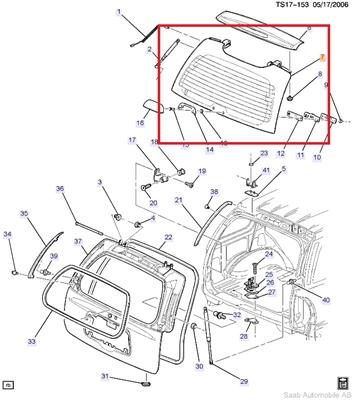 Saab 9000 P Diagram
