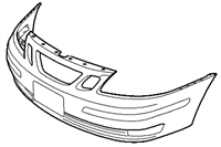 Genuine Saab 9-3 Front Bumper Cover ('03-'07) W/O Headlight Washers