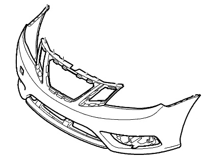 **FREE GROUND SHIPPING** Genuine Saab 9-3 Front Bumper Cover 2008-