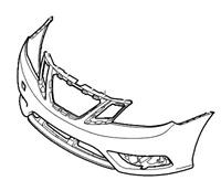 **FREE GROUND SHIPPING** Genuine Saab 9-3 Aero Front Bumper Cover (2008+) WITH Headlight Washers