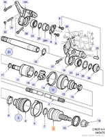 Universal joint.(9-5 1998-2011)[5390489]