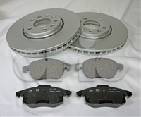 "Saab OEM Replacement Style Front brake Kit. 16 Inch (302mm Rotors). 2004-11 ""93"" FWD Only. 88800052"