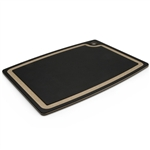 "epicurean 17.5"" x 13"" black with natural core groove board"