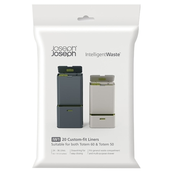 joseph joseph pack of 20 custom fit totem general waste liners