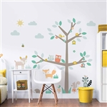 walltastic woodland tree & friends large character