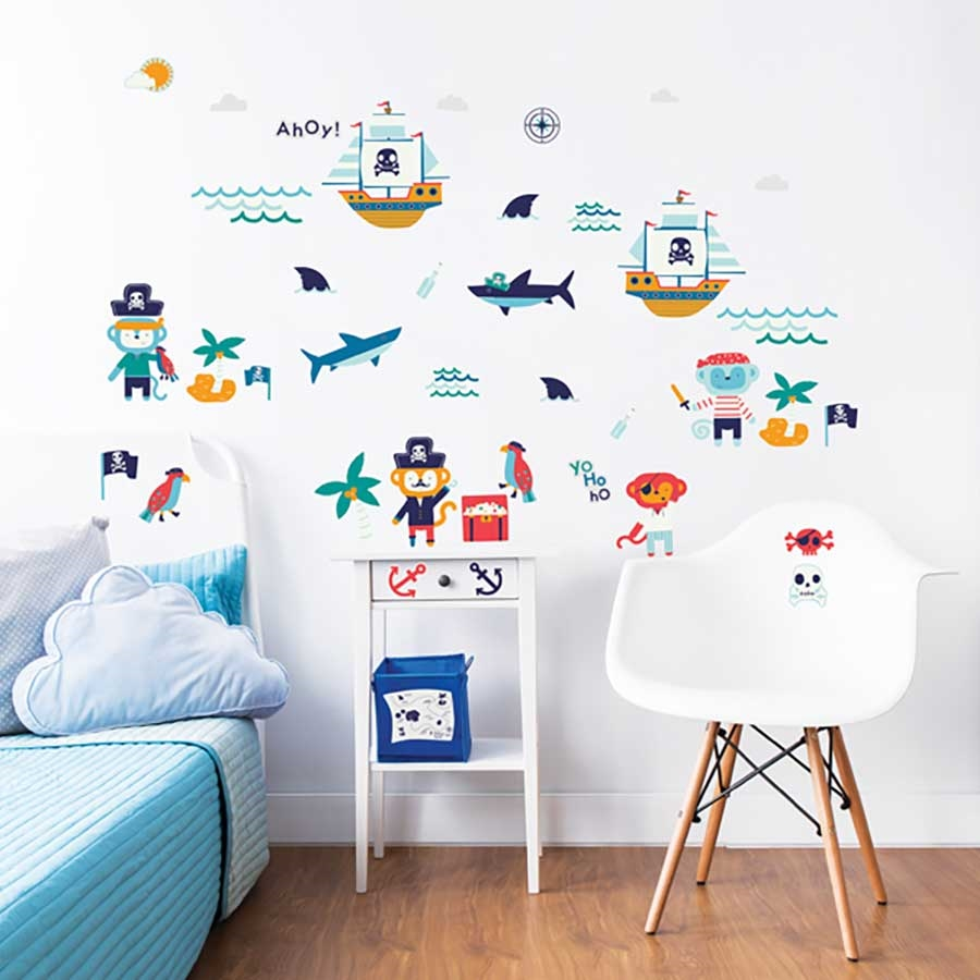 Walltastic Pirate Wall Stickers From Design2please