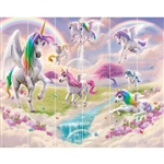 walltastic magical unicorn wallpaper mural