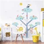 walltastic safari animals large character tree sticker