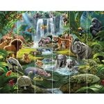 walltastic jungle safari wallpaper mural