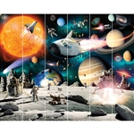 walltastic space adventure wallpaper mural