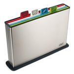 joseph joseph index steel multi colour chopping board set