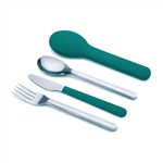 joseph joseph teal goeat compact stainless steel cutlery set