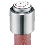 cilio heart wine bottle stopper
