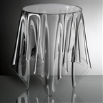 essey clear round illusion table