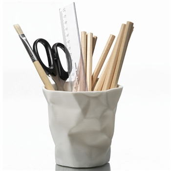 essey white pen pen desktop pen pot