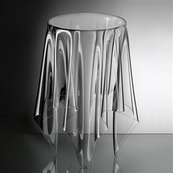 essey clear tall illusion table