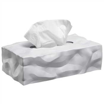 essey white wipy 2 tissue box cover