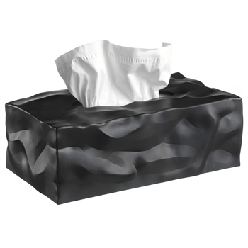 essey black wipy 2 tissue box cover