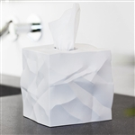 essey white wipy tissue box cover