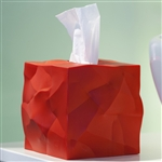 essey red wipy tissue box cover