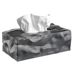essey graphite grey wipy 2 tissue box cover