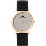danish design elbe light grey gold medium gents watch