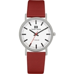 danish design rhine white red medium gents watch