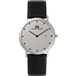 danish design elbe light grey stripe medium gents watch