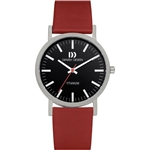 danish design rhine black red medium gents watch