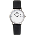 danish design elbe white small ladies watch