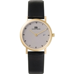 danish design elbe light grey gold small ladies watch
