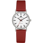 danish design rhine white red small ladies watch