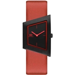 danish design squeezy black red ladies watch