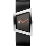 danish design squeezy silver black ladies watch