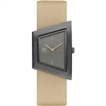 danish design squeezy grey beige ladies watch